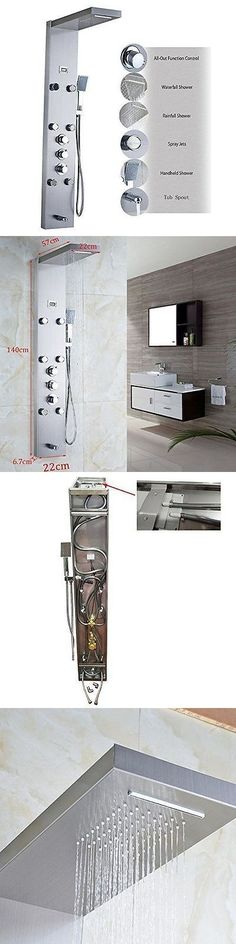 Shower Panels and Massagers 121849: 55 Stainless Steel Rainfall Shower Panel Massage System Mixer Tap W Hand Shower -> BUY IT NOW ONLY: $120 on eBay!