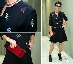 Lilian Pacce usa blusa usa saia Idice e culos Bottega Veneta (Foto: Andr Bittencourt)