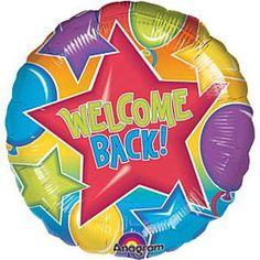 """18"""" Festive Welcome Back Mylar Balloon"""