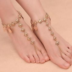 Women's Beach Barefoot Sandal Coin Tassel Anklet Chain Multilayer Coin Anklet Foot Jewelry - R alf - Anklet Jewelry, Anklet Bracelet, Foot Bracelet, Barefoot Sandals Wedding, Barefoot Beach, Anklet Designs, Ring Designs, Anklet Tattoos, Fashion Jewelry