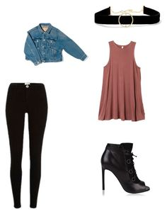 """Untitled #10"" by brooklyne200 on Polyvore featuring Yves Saint Laurent, Anissa Kermiche, RVCA and Balenciaga"