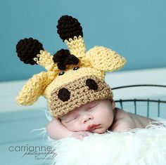 Oh, HECK. giraffe hat. Prob have to make this at some point now.