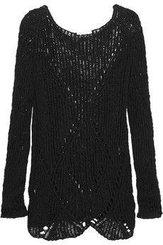 Maje Eliane ramie and cotton-blend sweater | THE OUTNET