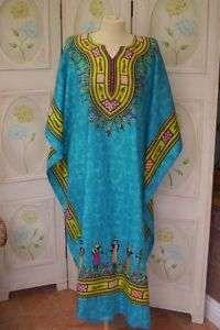 Caftan Plus Size | Plus Size Long Calypso Print Kaftan/Dress Maxi Beach Designer Kaftan