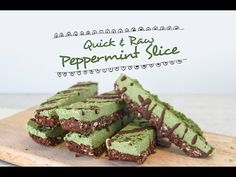 Quick & Raw Peppermint Slice | FOOD MATTERS®