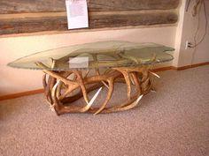 Repurposing Antlers And Coffee Table