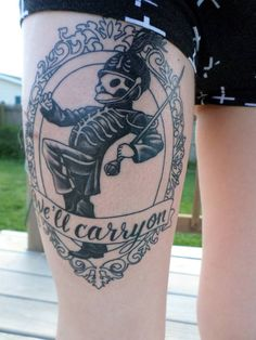 My My Chemical Romance tattoo I got over Summer. I need a new picture though as it is now coloured in. Done by Missy Blue of Baltimore Street Tattoos in Hanover, PA- this part took under 2 hours