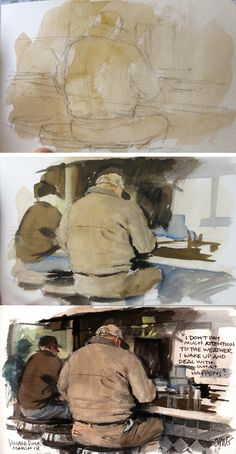 Gurney Journey: Watercolor Painting three step approach. Build a lesson around…