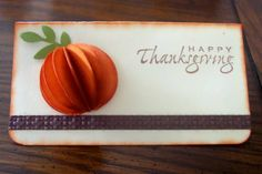 Thanksgiving placecard by BLN - Cards and Paper Crafts at Splitcoaststampers