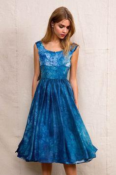 Urban Renewal Vintage Rough And Tumble Vintage Waves Of Blue Dress