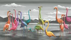 Michael Summers always has a new way to look at the world- Birds of a Feather is his newest Fine Art Limited Edition! www.ecgallery.com