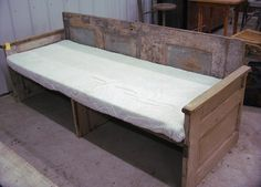 couch from old doors