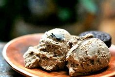 Coffee Orea Cookie Rum Ice Cream   Outrageously good homemade icecream with a coffee custard base, oreo cookies, and Mount Gay rum.