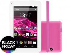 "Tablet Multilaser Supra 8GB 7"" Wi-Fi Android 4.4 - Proc. Quad Core Câmera Integrada"