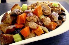 Sweet Potato, Mushroom & Veggie Stuffing    Thanksgiving,…