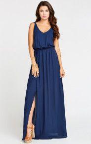 Kendall Maxi Dress ~ Rich Navy Crisp