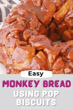 Easy Monkey Bread is a giant pull-apart cinnamon roll. Cinnamon sugar and caramel sauce make this monkey bread irresistible! It's ooey-gooey, soft and chewy, and incredibly addicting. This recipe is incredibly easy to make because it uses store-bought biscuit dough (in a tube). It's the ultimate brunch or holiday breakfast recipe.