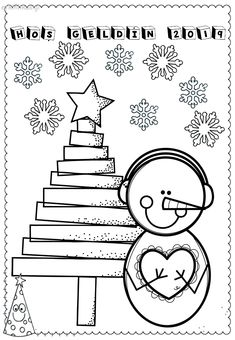 Early Childhood Activities, Preschool Coloring Pages, Crafts For Kids, Arts And Crafts, Winter Activities, Christmas Diy, Kindergarten, Doodles, Clip Art