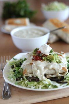 Vegetable Chimichangas - Vegan