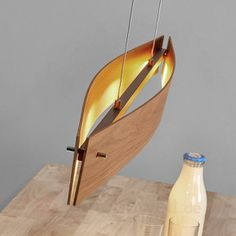 Eiche natur - LED-Pendelleuchte Malu aus Holz