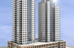 Images of the proposed new Fox Towers condo development on 104th Street and 102nd Avenue. Architect Fraser Brinsmead.