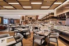 View the full picture gallery of InterContinental Zhuhai(YANG & Associates Group) Cafe Restaurant, Restaurant Design, Outdoor Swimming Pool, Swimming Pools, Resort Interior, Destin Resorts, Zhuhai, Hall Furniture, Office Walls