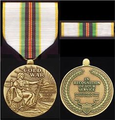 cold war medal long over due Us Military Medals, Military Post, Military Records, Military Ranks, Military Orders, Military Insignia, Military Life, Military Ribbons, Military Jeep