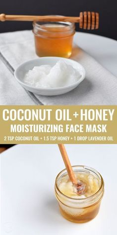 DIY coconut oil and honey face maskCoconut oil and honey both have moisturizing, antimicrobial and regenerative properties, which makes this DIY face mask incredibly skin-care! about Noelle DIY honey face masksThree simple, homemade face Mask For Dry Skin, Oils For Skin, Mask For Face, Facial For Dry Skin, Homemade Skin Care, Diy Skin Care, Homemade Beauty, Homemade Moisturizing Face Mask, Homemade Cosmetics