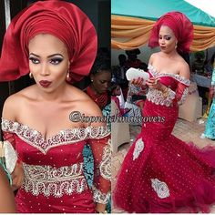 Bride Chinny at her traditional wedding! MUA @topnotchmakeovers #BellaNaijaWeddings