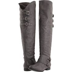 Just got these grey boots.great for larger calves. Are cute pulled up for an over the knee look or a scrunched knee high. Grey Boots, Cute Boots, Black Knees, Daughter Love, Fashion Outfits, Womens Fashion, Knee High Boots, What To Wear, Stylish