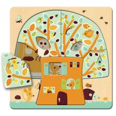 Djeco - Tree House Layer Puzzle