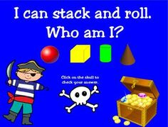 Pirate 3-D Shapes for Promethean Board - Young and Lively Kindergarten - TeachersPayTeachers.com