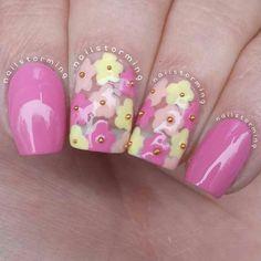 Instagram media by nailstorming #nail #nails #nailart #unha #unhas #unhasdecoradas #floral