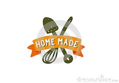 Logo design with cooking and gardening elements