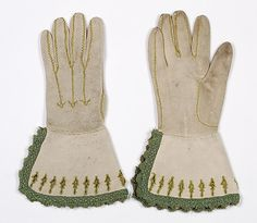 Date: second quarter 18th century  Culture: French  Medium: Leather, silk, metallic