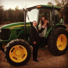 My country wedding. John Deere green.