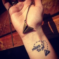 This reminder to just go: | 17 Tiny Travel Tattoos For Your Next Big Adventure