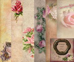 Digital Background Digital Paper Pack Floral by CottageAndLace