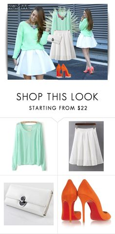 """""""Romwe 7/2"""" by dinna-mehic ❤ liked on Polyvore featuring Agave, Christian Louboutin and romwe"""