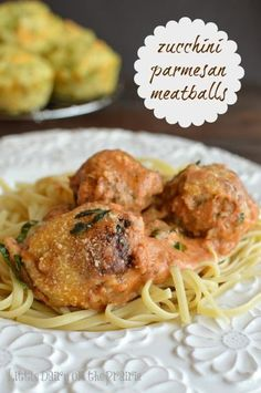 Zucchini Parmesan Meatballs in Creamy Tomato Sauce Recipe Main Dishes with… Zucchini Meatballs, Parmesan Meatballs, Italian Meatballs, Beef Dishes, Pasta Dishes, Food Dishes, Main Dishes, Side Dishes, Zucchini Dinner Recipes