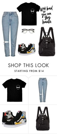 """""""Untitled #40"""" by melgray1990 ❤ liked on Polyvore featuring Topshop, Vans, Prada and ZeroUV"""