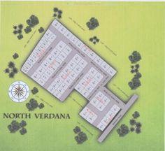 North Verdana map