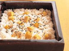 栗ごはん(kuri gohan) : rice cooked with chestnuts(chestnuts rice), one of the autumn taste of Japan