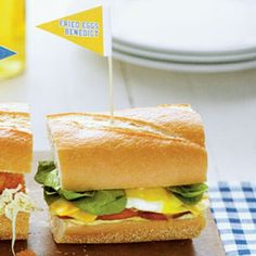 Ready-to-Serve Tailgating Recipes: Eggs Benedict Sandwiches