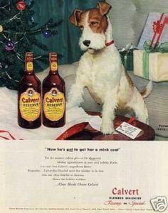 Calvert Whiskey Ad Fox Terrier (1946)