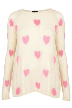 Knitted heart jumper! Would be cute with jean!