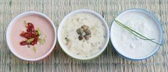 3 Delicious dip recipes: Peanut Satay Sauce, Remoulade Dip, and Blue Cheese Dip - listed here as Remoulade Dip contains anchovy fillets. Dip Recipes, Sauce Recipes, Seafood Recipes, Peanut Satay Sauce, Soup Starter, Cold Dips, Fish And Seafood, Cheeseburger Chowder, Desserts