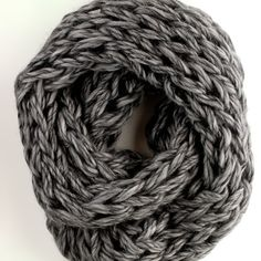 Make this gorgeous arm knit cowl with an easy PHOTO tutorial.  Lush and full!