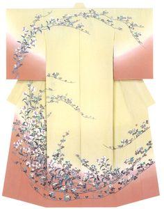 Kaga-Yuzen Kimono (Homongi) Mizuho Tsukida
