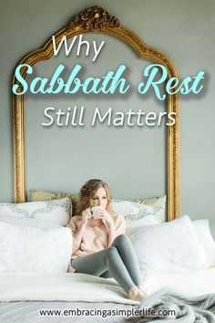 Blog post at Embracing a Simpler Life : Sabbath rest still matters. It matters for you.  If you grew up in church, or if you have read through the Bible, you know about Sabbath. [..]
